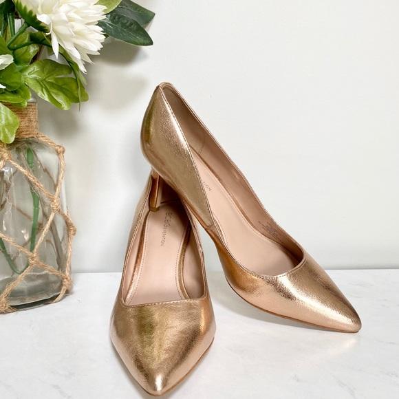 BCBGeneration metallic rose gold heels